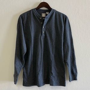 NK RANCH| Dark Gray Henley Long Sleeve Shirt
